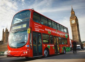 London legendary Double-decker buses going green hybrid engine zero carbon emissions