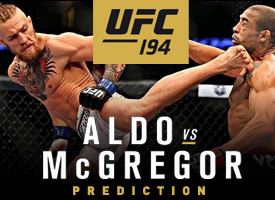 Connor McGregor vs Aldo UFC 194 MMA Octagon Prediction Notorious Knockout in 4 minutes