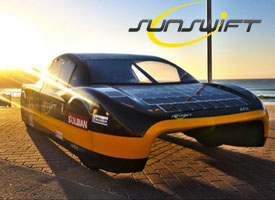 Sunswft Eve First Road Legal Solar Powered Race Car Southern Hemsphere Burnout