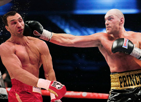 Tyson Fury vicious KO boring Wladimir Klitschko heavyweight WBA IBF WBO title fight