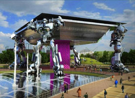 Opening of the World first robots theme park: ROBOT LAND in Incheon, South Korea