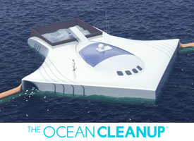 Ocean Cleanup Boyan Slat First System for cleaning oceans between Japan and South Korea