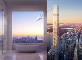 The tallest residential building in the western hemisphere, most expensive apartment in New York