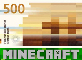 Norway releases new pixel banknotes with a la Minecraft design