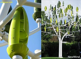 NewWind Wind Tree Turbines very silent and more durable more efficient