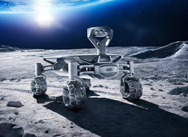 The rover Audi Lunar Quattro is ready for the challenges of the Moon