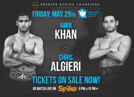 Boxing Super star Amir King Khan vs Chris Algieri in Brooklyn Spike tv